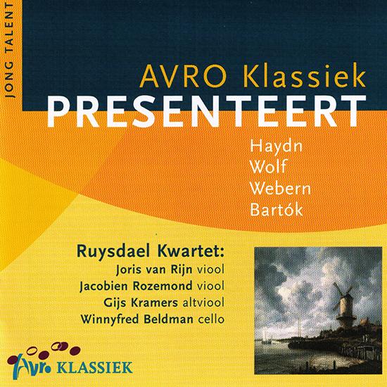Ruysdael Kwartet met Haydn, Wolf, Webern, Bartók